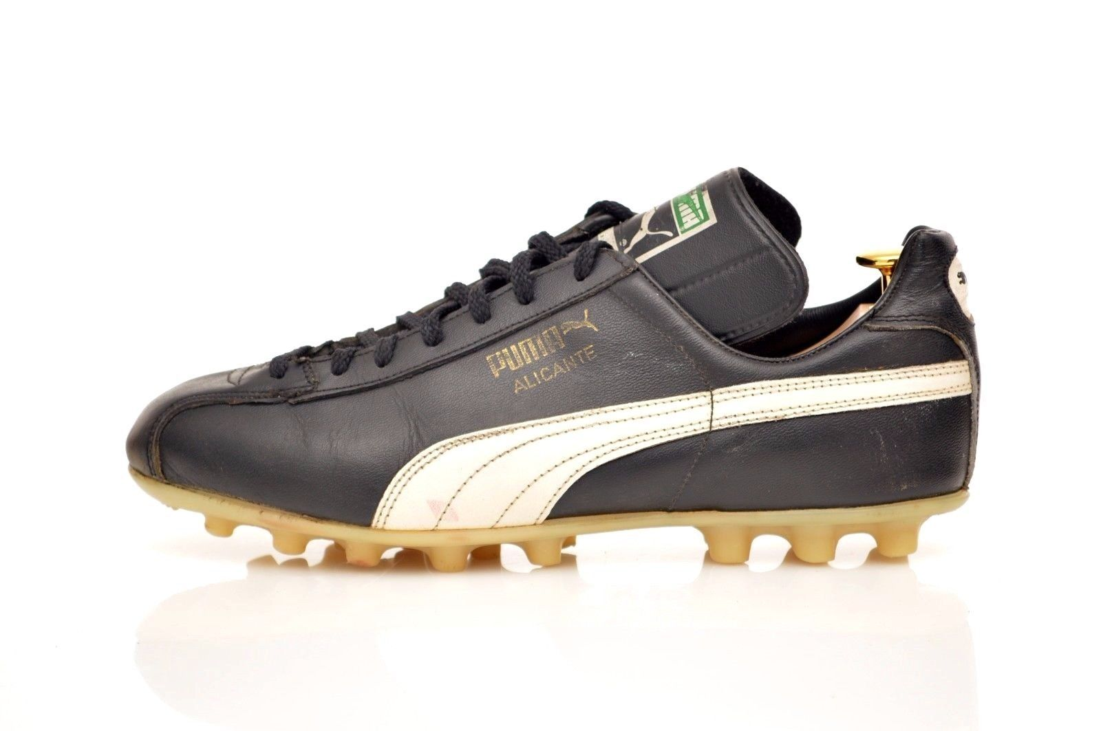 ec0ca544d vintage PUMA 'Alicante' Football Boots size UK 8 rare OG 70s black leather  | eBay