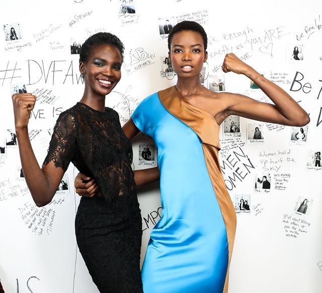 As tops @aamito_lagum e @iammariaborges participaram ontem do 8º Annual DVF Awards que reconhece e premia mulheres cujos trabalhos fazem a diferença para melhorar a vida de suas comunidades. Lindas e poderosas! #LOFFama #dvfawards  via L'OFFICIEL BRASIL MAGAZINE INSTAGRAM - Fashion Campaigns  Haute Couture  Advertising  Editorial Photography  Magazine Cover Designs  Supermodels  Runway Models