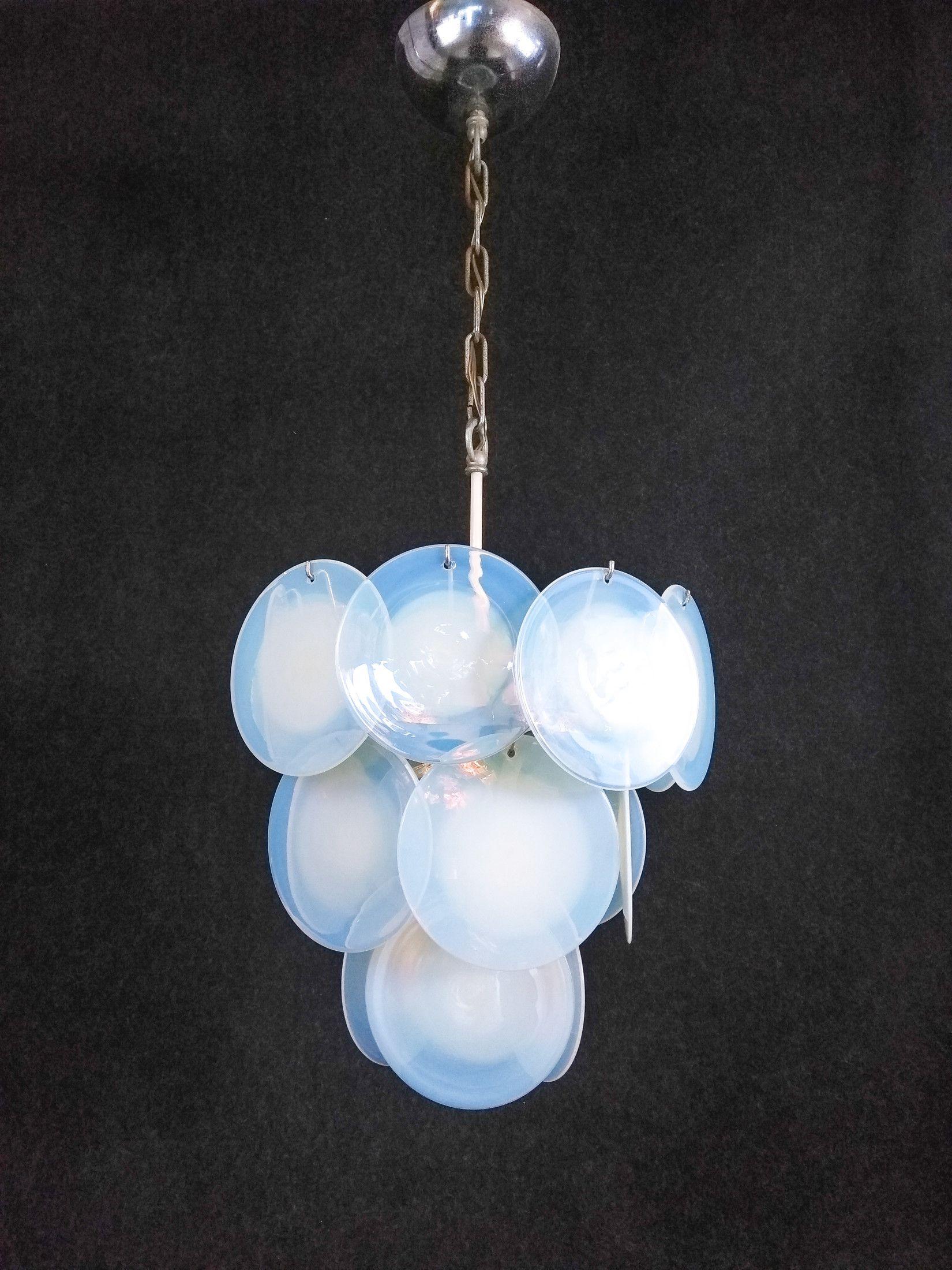 Lampadario di design in vetro di Murano. Gino VISTOSI