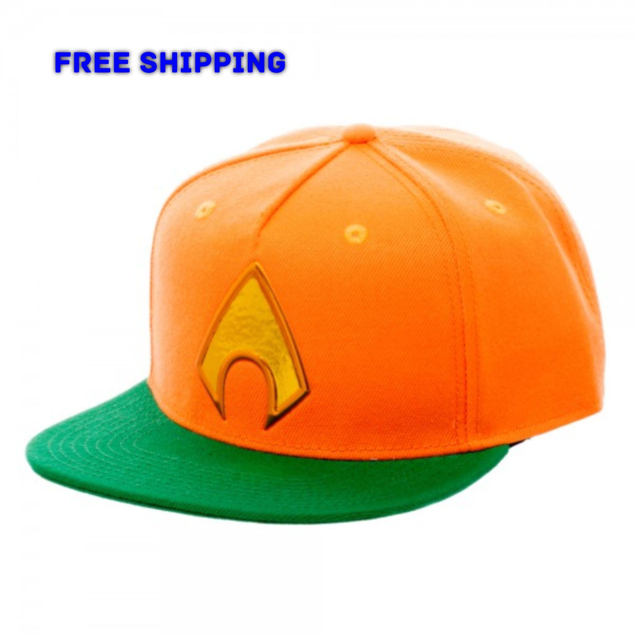 0087638c07bec ... official store dc comics aquaman logo chrome weld snapback cap hat  justice league 317fc 16f73