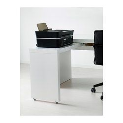 malm bureau avec tablette coulissante blanc ikea am nagement bureaux pinterest c ble. Black Bedroom Furniture Sets. Home Design Ideas