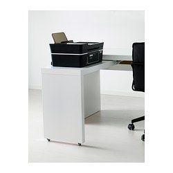 malm bureau avec tablette coulissante blanc ikea am nagement bureaux pinterest malm. Black Bedroom Furniture Sets. Home Design Ideas