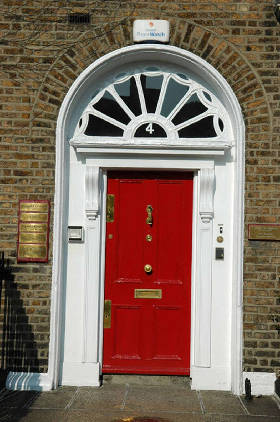 Lovely Red Door With Brass Door Furniture. For The Brassware From Priors  Click Below: