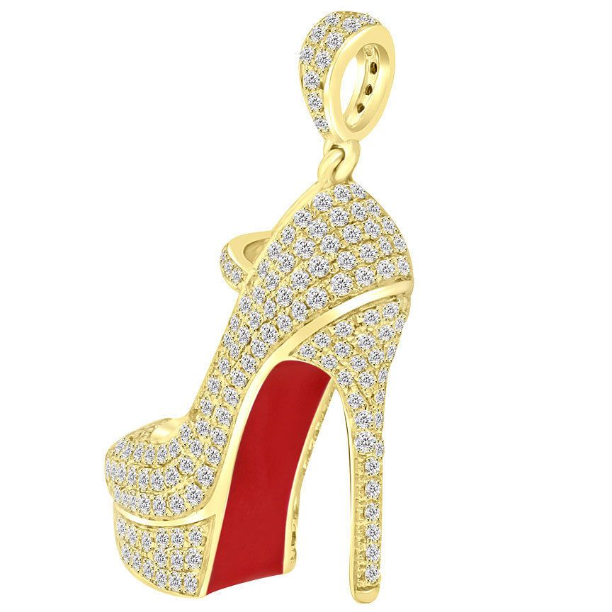 reputable site c3040 772fa Details about 1.60 Carat Ladies Red Bottom Shoe Charm ...