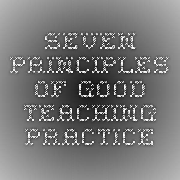 Seven Principles of Good Teaching Practice
