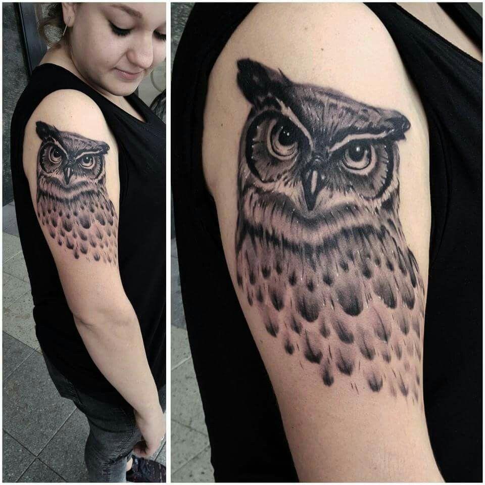 Owl Tattoo by Jules Blomen via Tattoo Joey on Facebook