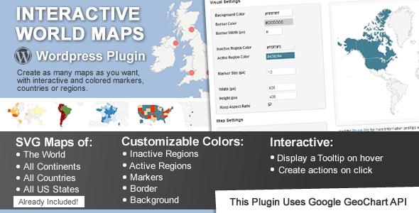 This Is A WordPress Plugin To Create As Many Maps As You Want - Interactive us map wordpress plugin