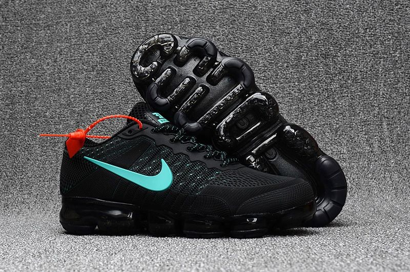 09e1b5cdc04 Men s Nike Air Vapormax 2018 Running Shoes Black Blue UK Trainers Sale