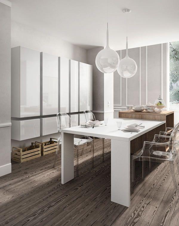 Cucine Moderne Bianco.Home Cucine Cucine Moderne Componibili Modello Reflexa