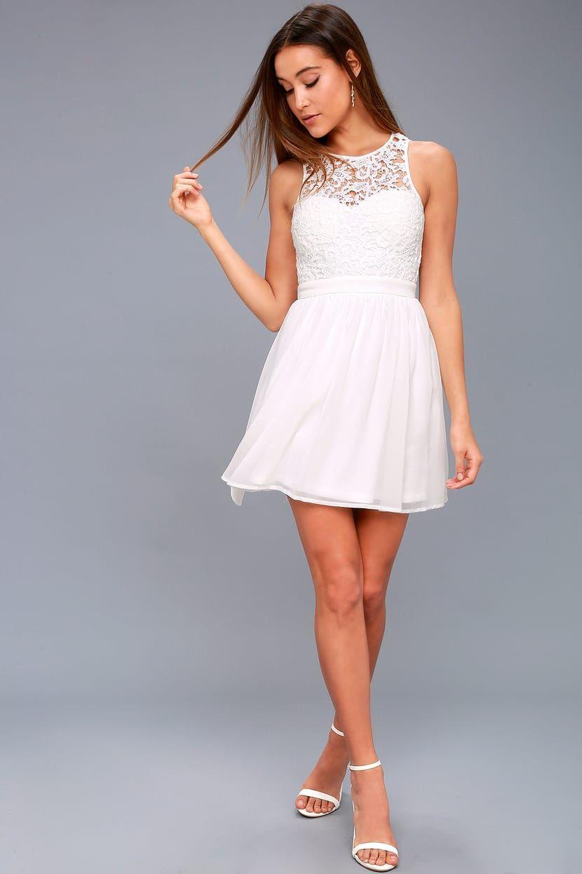 Romantic Tale White Lace Skater Dress In 2021 White Lace Skater Dress White Dresses For Women Long Sleeve White Dress Short [ 1245 x 830 Pixel ]