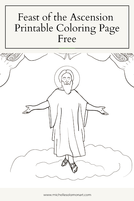 Ascension of Jesus Coloring Page feast of the ascension