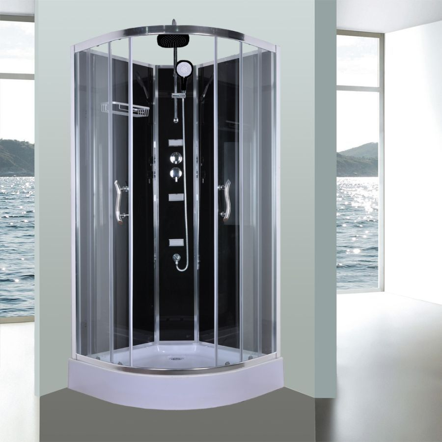 Aeros 11000 Corner Luxury Shower Enclosure In Black With Images