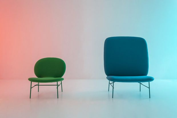 kelly seats by Cleasson for Tacchini : green and blue