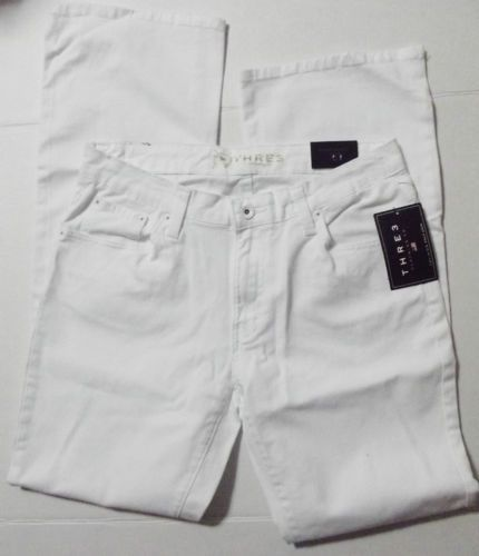 White Denim Boot Cut Jeans NWT Three Clothing Company Women's Size 10