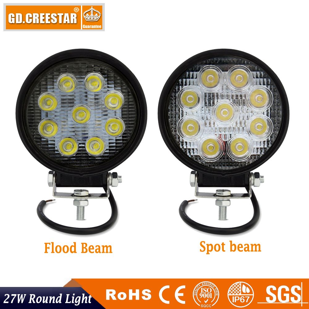12v Automotive Led Offroad Work Light 27w 2150lm High Power 12v 27w Led Work Light For Off Road Truck External Lights 12v Led Work Light Work Lights Car Lights