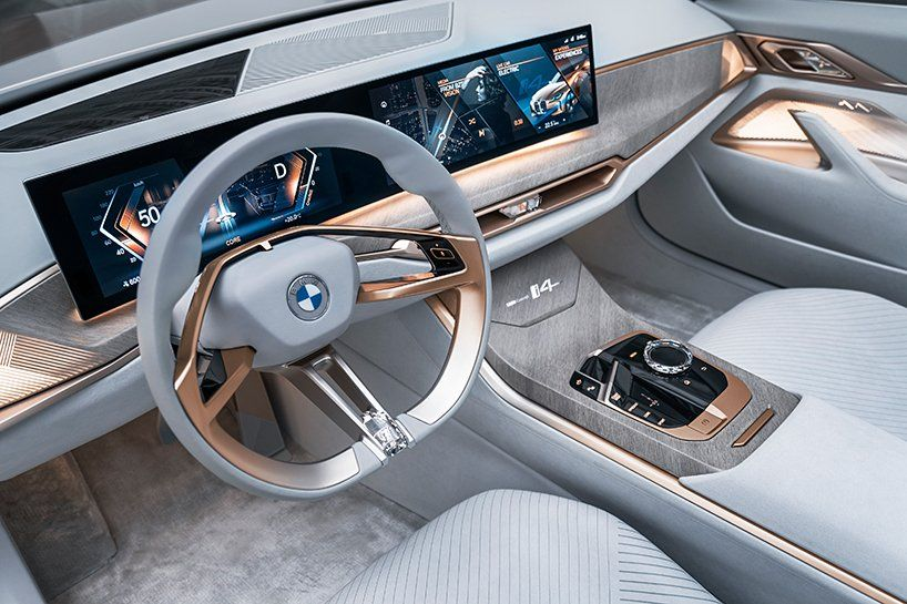 Pure Electric Bmw Concept I4 Shapes Sporty Yet Sustainable Gran
