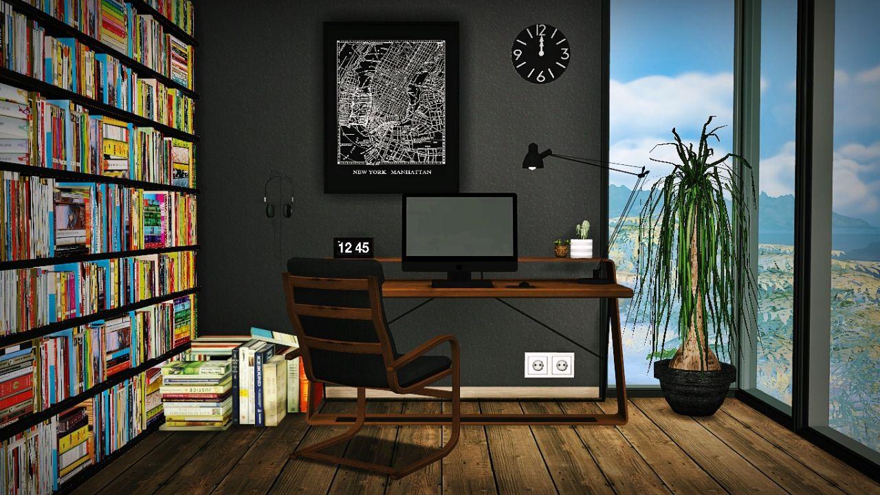 Lana cc finds take a long break office furnituresims 4