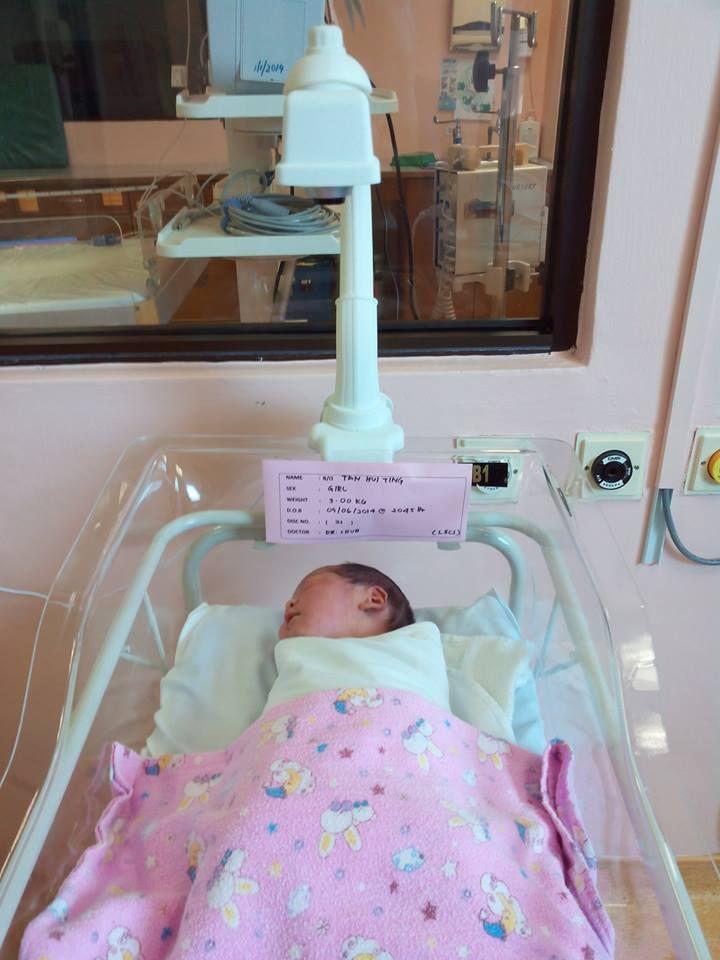 Newborn Sleeping At Kedah Medical Centre Kedah Malaysia Bassinet