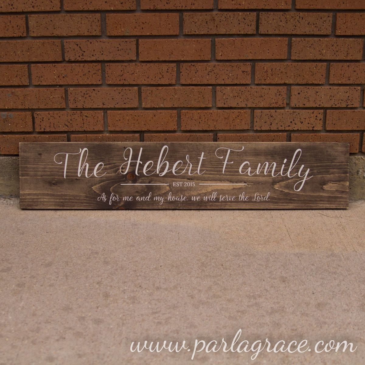 """Family Name Sign - As for me and my house (8""""x36"""") by ParLaGrace on Etsy"""