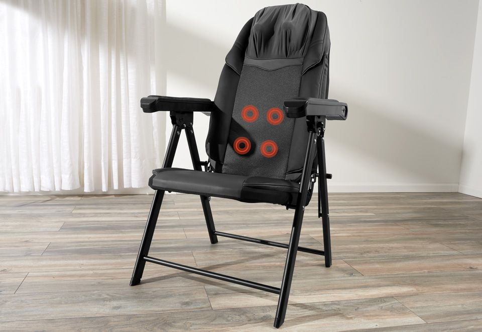 Foldable Shiatsu Massage Chair At Sharper Image Buy Pinterest