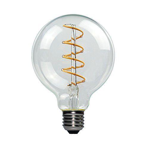 Yunte Vintage Flexible Filament Led Bulb G80 Bulb 4w E26 Base Warm White 2200k Dimmable Edison Bulb 40w Equ Antique Light Fixtures Edison Bulb Led Globe Lights