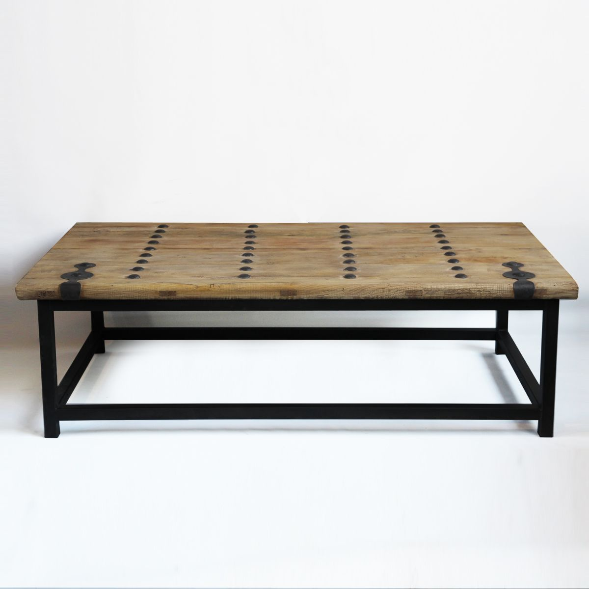 Check Out Our Rustic Coffee Tables At Mix Furniture Old Elm Wood Solid Coffee Table With Iron Details And Coffee Table Solid Coffee Table Rustic Coffee Tables