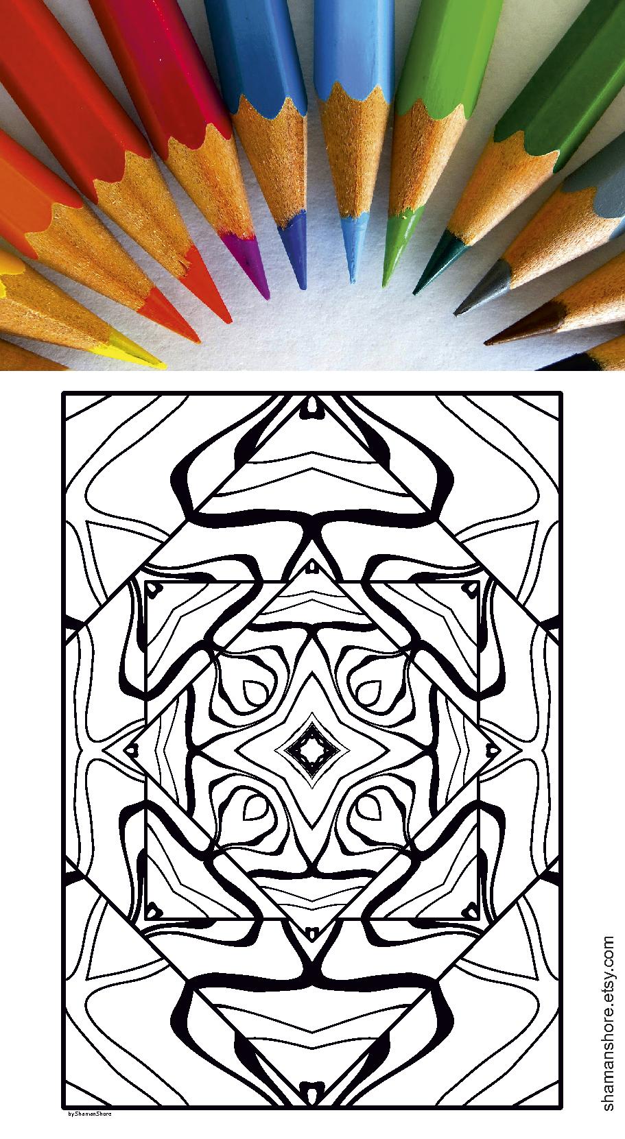 Adult Coloring Book Pdf 20 Abstract Adult Coloring Pages Instant