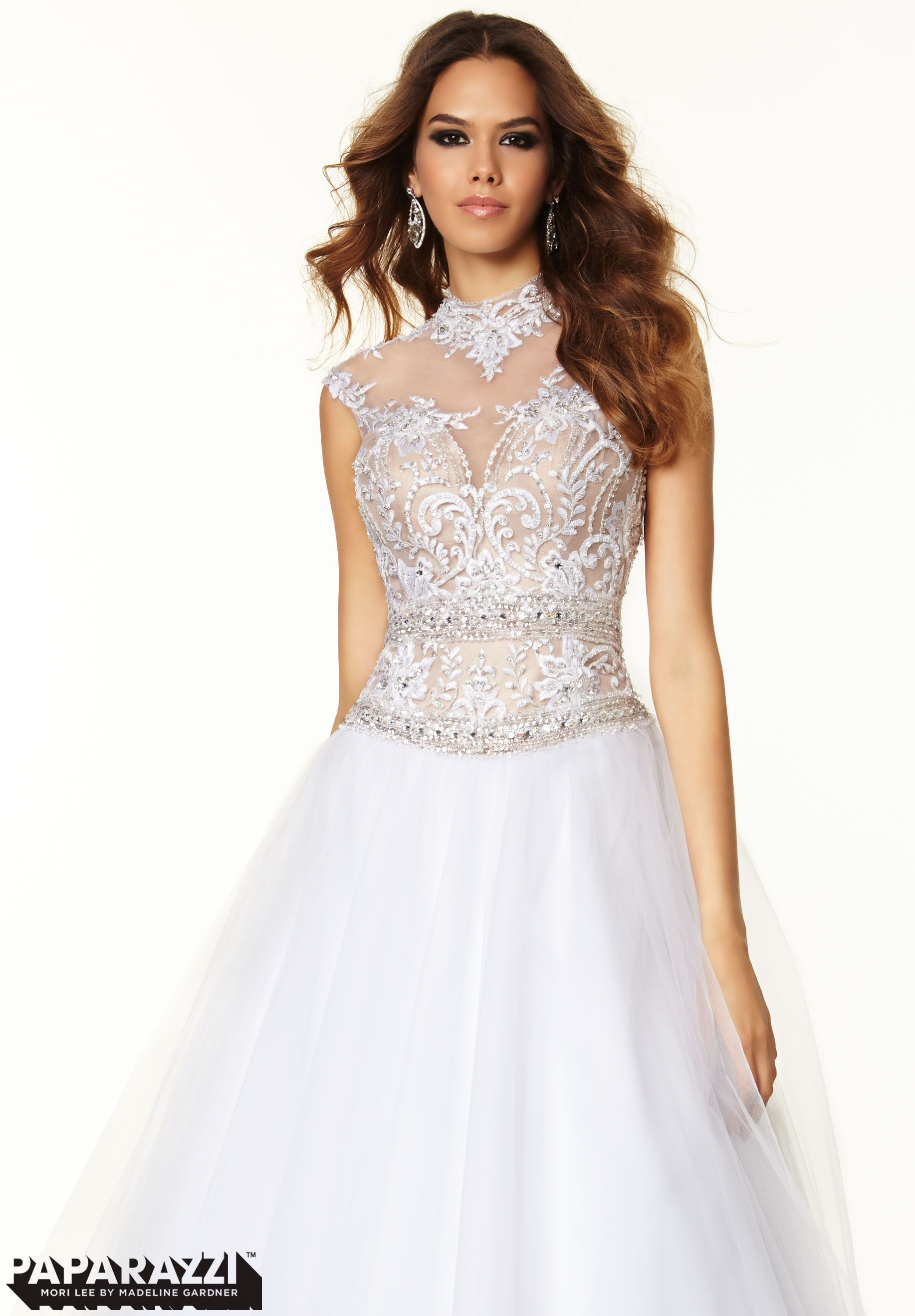 Prom dresses gowns style beaded emboridery and tulle