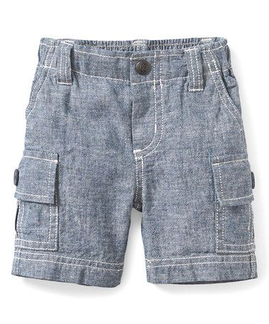 Look what I found on #zulily! Gray Chambray Cargo Shorts - Infant & Toddler #zulilyfinds