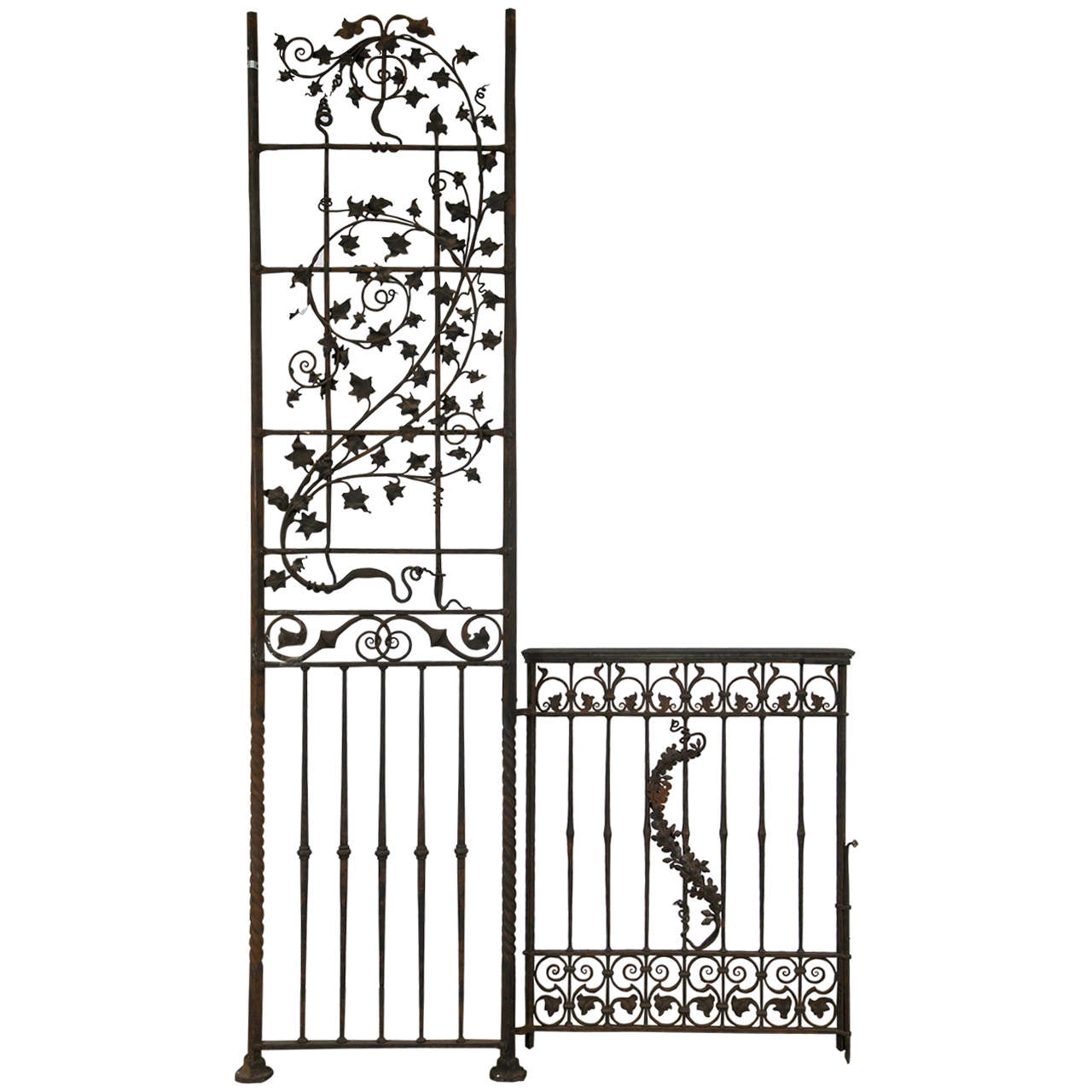 Antique Wrought iron Gates and Panels-Acorn Pattern | 1stdibs.com - Antique Wrought Iron Gates And Panels-Acorn Pattern Gate Drawings