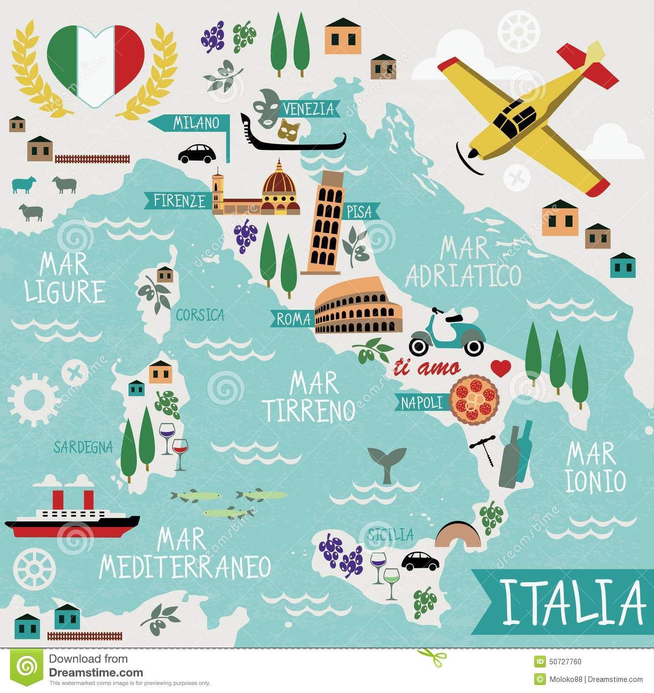 Download Map Of Italy.Cartoon Map Of Italy Download From Over 45 Million High