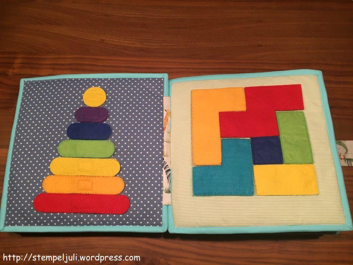 Quiet Book naehen DIY Stoff Filz Puzzle Farben Formen | Quiet Books ...