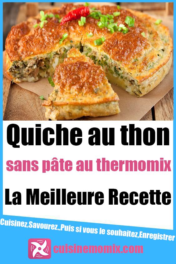 Quiche au thon sans pâte au Thermomix