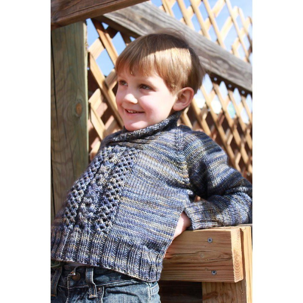 This is a cozy little sweater with a shawl collar to keep your ...