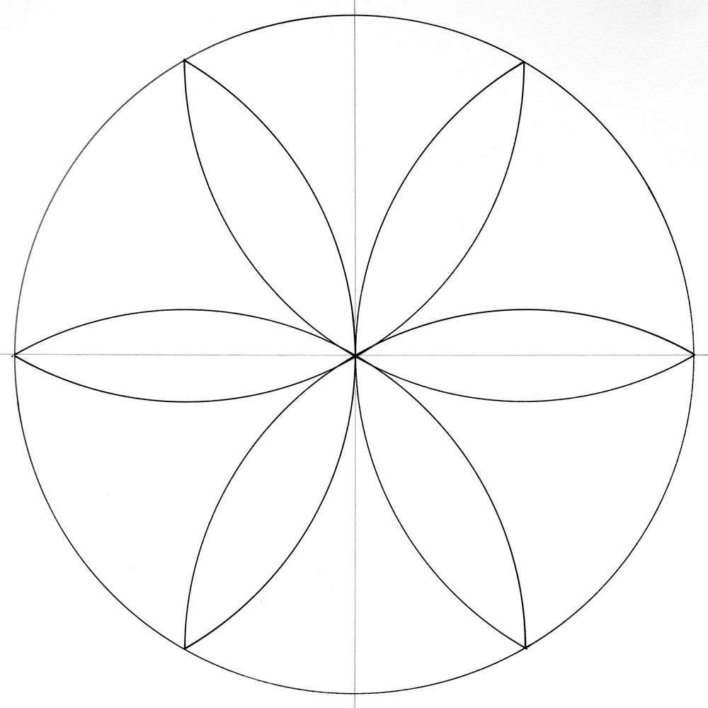 How To Draw A Mandala With A Compass Easy Mandala Drawing