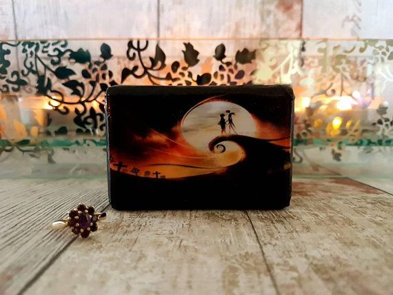 Wedding Ring Box Nightmare Before Christmas Inspired Double Ring
