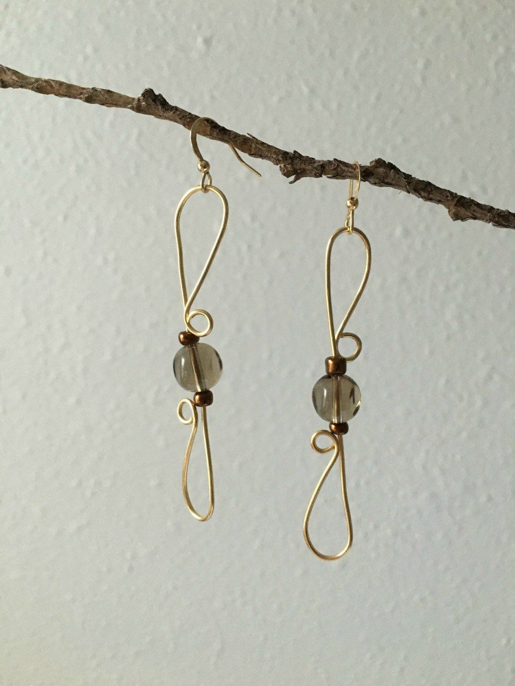 How to Make Wire Wrapped Earrings | Wire wrapping, Wraps and Tutorials