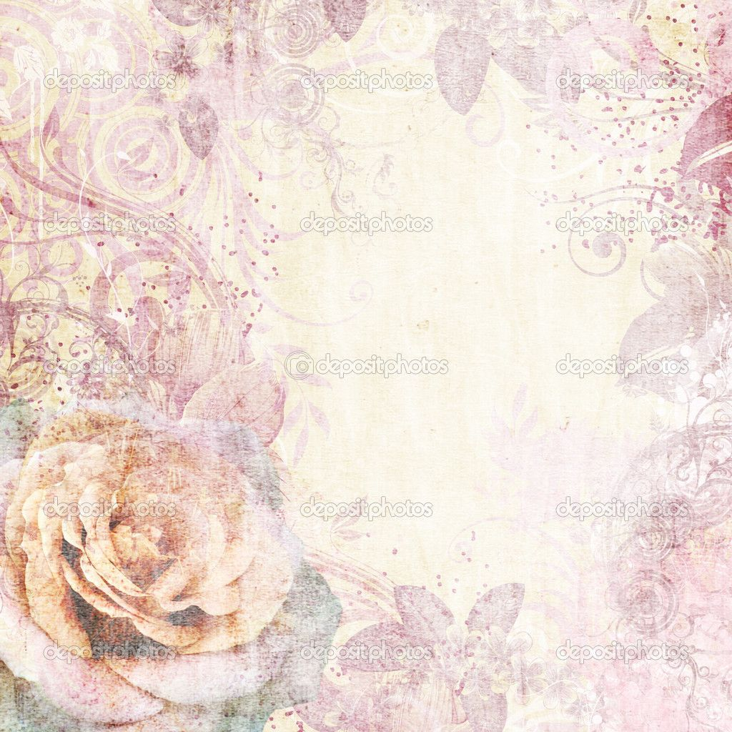 vintage pink vintage floral background with rose in pink achtergronden vintage floral background