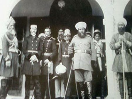 Amir Abdurrahman Khan With The British Mission For Demarcation Of Borders Afghanistan Under Leadership Sir Mortimor Durand In 1893 Kabul