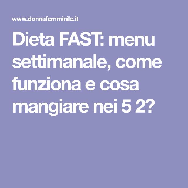dieta 5 2 cosa mangiare