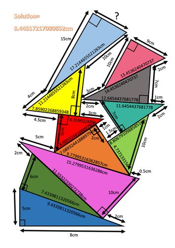 Pythagoras Theorem Pile Up   Activities, Trigonometry and ...