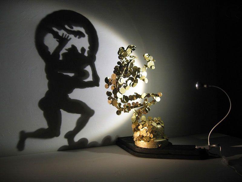 Ordinary Shadow Art Part - 7: Shadow Art Sculptures By Diet Wiegman