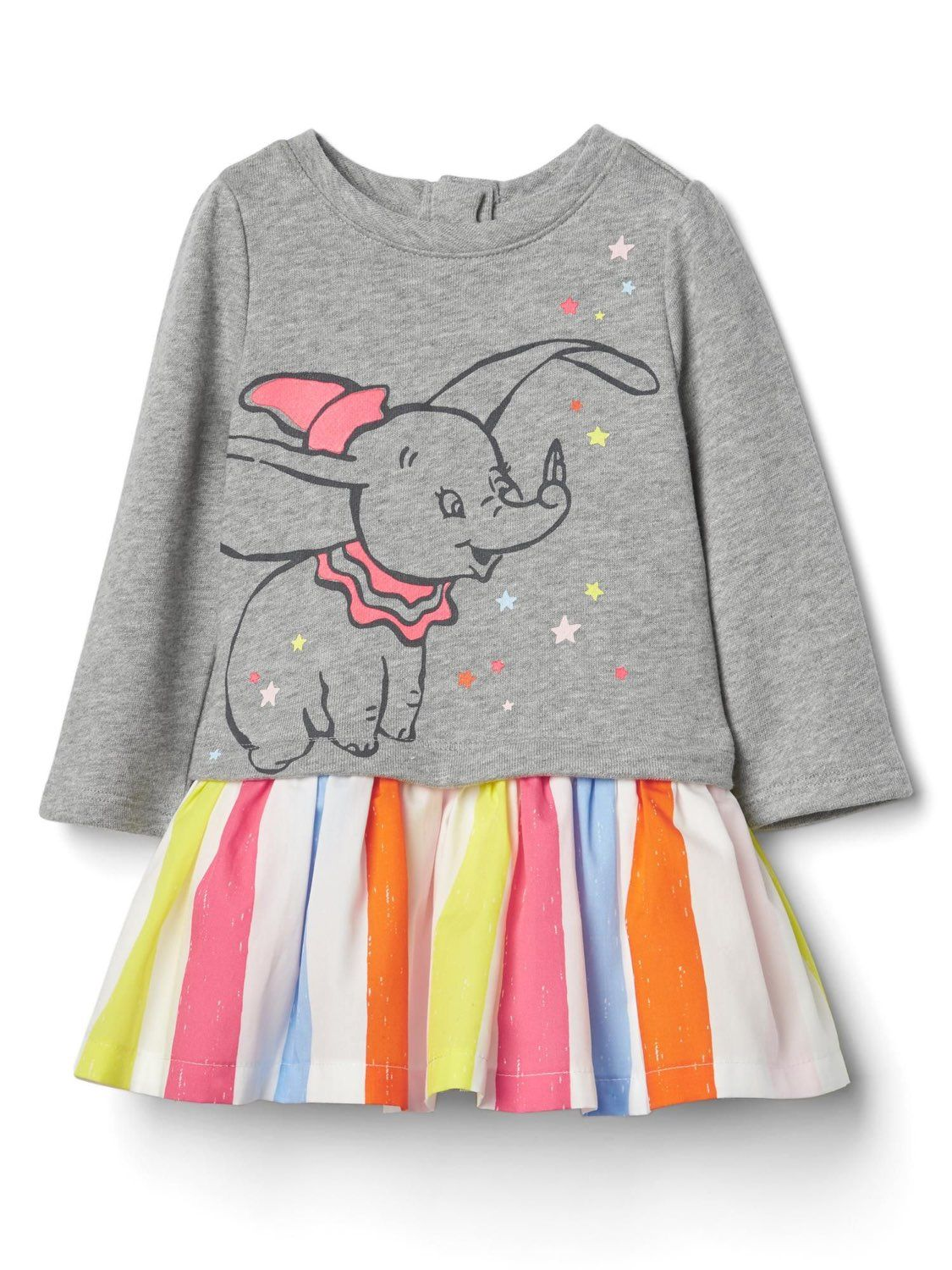 04538382c702 Baby Gap Disney Dumbo Grey Multi-Color Tutu Dress 12-18 Months ...
