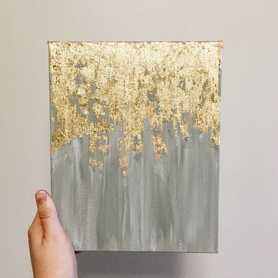As seen in HGTV magazine, gold leaf painting, multiple sizes ...