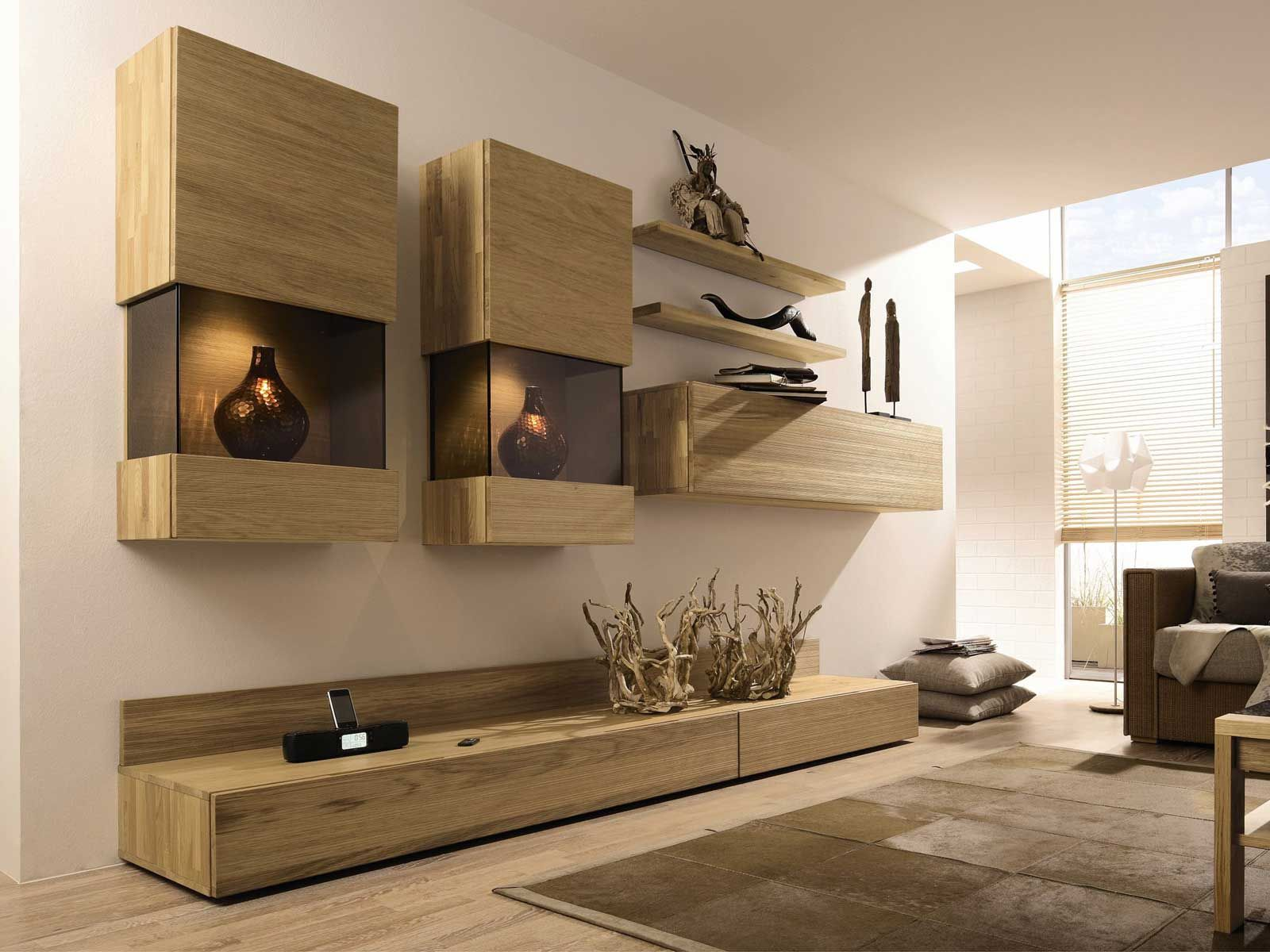 mueble modular de pared composable lacado con soporte para tv elea mueble modular de pared
