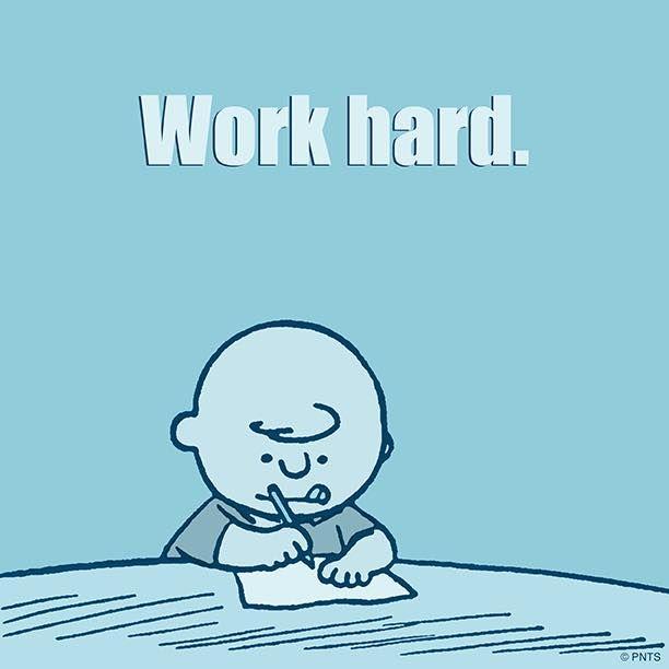 Work Hard Snoopy Snoopy School Charlie Brown Dog