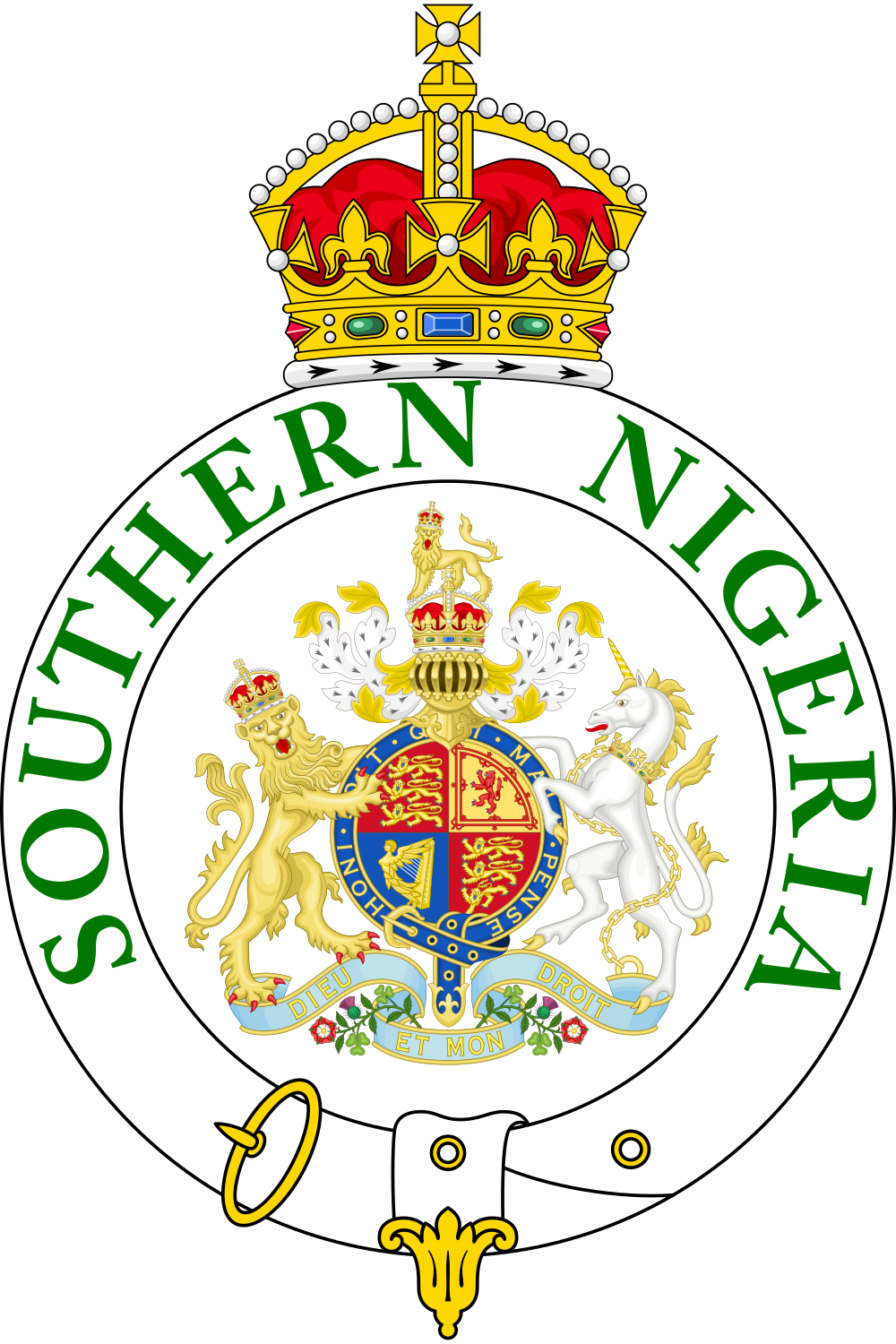 southern nigeria protectorate african coat of arms pinterest rh pinterest com