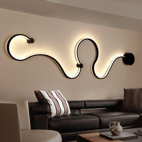 Nuovo Postmoderna semplice creativo applique da parete a led camera ...