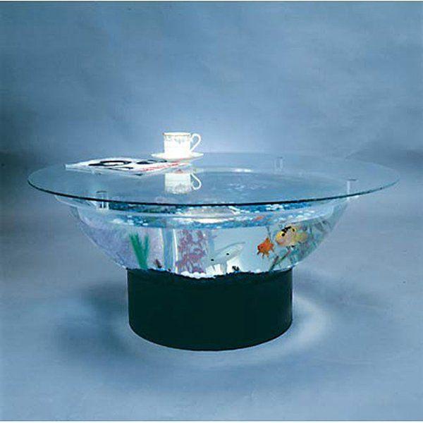 Fish Tank Coffee Table, Round Aquarium Coffee Table