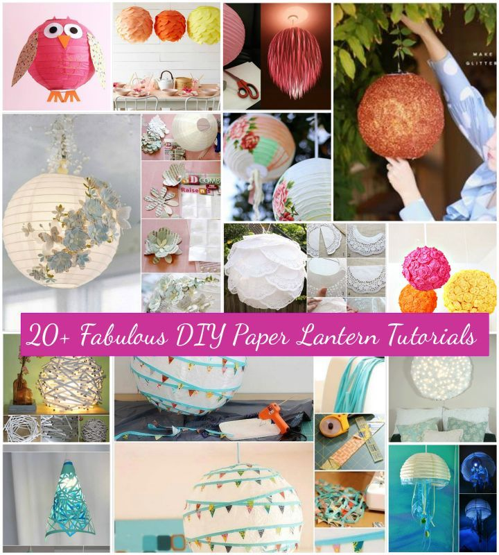20 Diy Paper Lantern Ideas And Tutorials With Images Paper